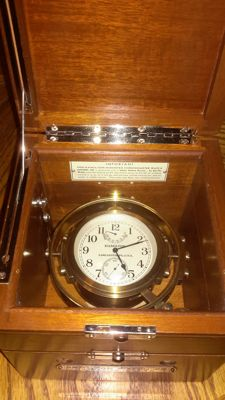 1943 WWII US Navy Ships Chronometer by Hamilton Watch and Clock Company