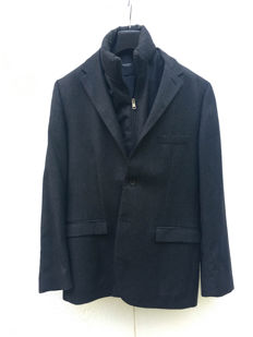 Neil Barret - Matching jacket, shirt and waistcoat in grey wool, size 52