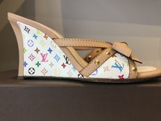 Louis Vuitton - open-toed sandals with wedge - Monogram, multicoloured