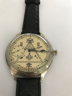 Omega - Masonic Marriage Watch - 1930s.
