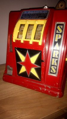 GROETCHEN SPARKS Trade Stimulator USD 0.05 cents 1930s gumball pay out, works perfectly, rare