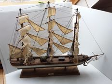 Large wooden sailing ship model, Clipper - 1845 - the Rainbow