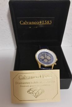 Calvaneo 1583 – Diamond Shiny BLUE gold-plated