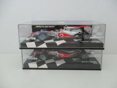 Minichamps - Scale 1/43 - Lot with 2 models: 2 x  Vodafone McLaren Mercedes F1 Team 2010 - L. Hamilton / J. Button