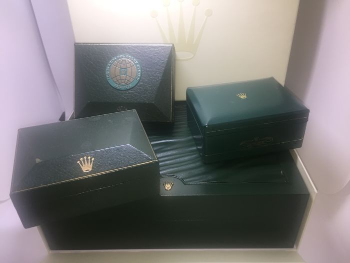 Lot of four original Rolex boxes