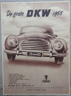 DKW / Auto Union - Lot of 42 Advertisements from 1934 to 1965