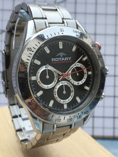 """Rotary """"Chronograph"""" -- men's wristwatch -- 2017 -- used, in mint condition."""