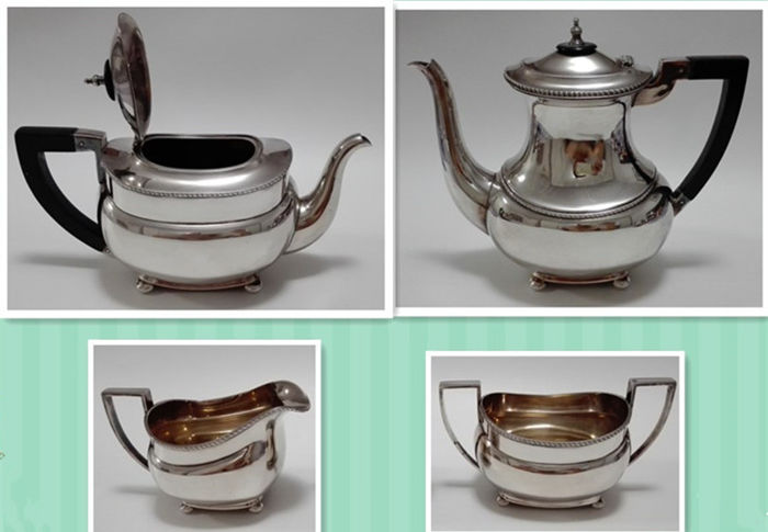 Four piece Silver plated tea- and coffee set, Germany, WMF, 1st half of the 20th century