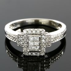 14kt White Gold Ring Set With 0.25 ct Natural Diamonds - 7