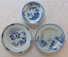 Three porcelain dishes and a bowl - China - 18th century