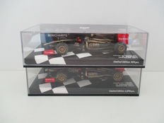 Minichamps - Scale 1/43 - Lotus F1 Team 2012 Showcar - K. Raikkonen and Lotus Renault GP 2011 Showcar - N. Heidfeld