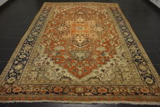 Antique Persian carpet Heriz, made in Iran, Antique carpet, 230 x 320 cm
