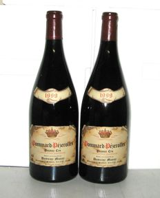 1999 Pommard 1er Cru Pezerolles, Domaine Mussy, Lot of 2 Magnums 1.5 L.