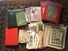 World Batch of stamps in 7 albums and envelopes
