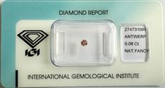 Natural Fancy Intense Pink Diamond 0.08 ct  with IGI cert