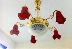 Large ornate French chandelier
