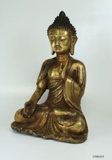 Large statue - Buddha - bronze - China - late 20th century