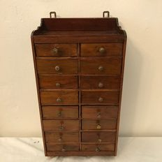 Mahogany wooden chest of drawers with 16 drawers - 1st half 20th century