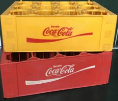 Pair of bottle containers - 1970s - Coca Cola