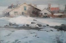 Marius J. Richters (1878-1955) - Winterlandschap