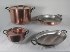 Top brand Wegro - 4 Professional thick-walled copper pans / oven scales - 8.6 kilos
