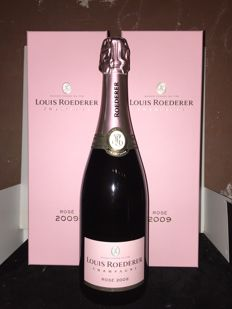 2009 Champagne Louis Roederer Rose - 2 bottles (75cl) with coffret