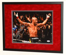 "Anderson ""The Spider"" Silva original signed photo - Premium Framed + Certificate of Authenticity"
