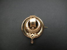 Gold brooch - regional jewellery - antique - approx. 1930