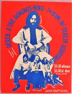 """Extraordinary rare Eric Clapton/ Derek and the Dominos  psychedelic """""""" Dance"""" Concert"""