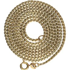 14 kt - Yellow gold s-link necklace - Length: 72 cm