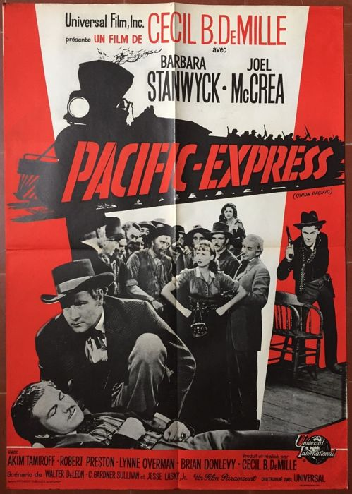 Anonymous - Pacific Express / Union Pacific (Cecil B De Mille, Barbara Stanwick) - circa 1950