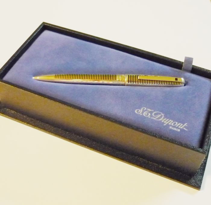 s.t. dupont olympio sterling silver ballpoint