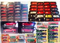 Divers - Scale 1/43-1/39 - Lot with 44 models: Ferrari, Lotus, Jaguar, Porsche, Lamborghini, VW, Volga, BMW & Aston Martin