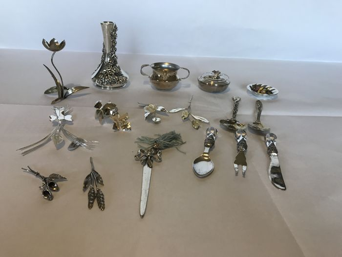 Lot of silver objects - 800 - 900 - 1000