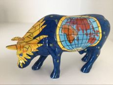 CowParade - Tiffany Globe - Medium -ceramic - rare!
