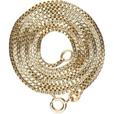 14 kt - Yellow gold Venetian link necklace - Length: 61 cm