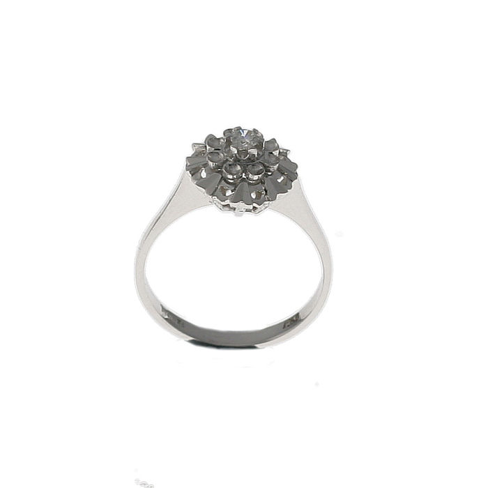 Andrè Boden - Gold ring with 0.16 ct solitaire diamond - Women's - Universal size 11