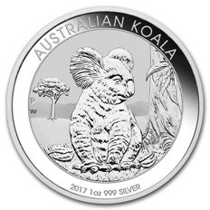 "NEW! Australia 1 Dollar 2017 ""Koala"" 1 oz 999 Silver Proof Coin"