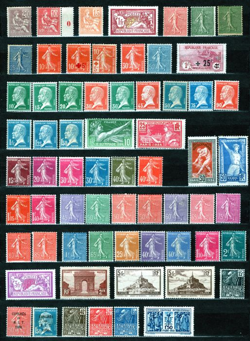 France 1901/1931 – Set of stamps