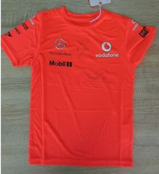 Lewis Hamilton/Jenson Button - original autographs - McLaren team shirt
