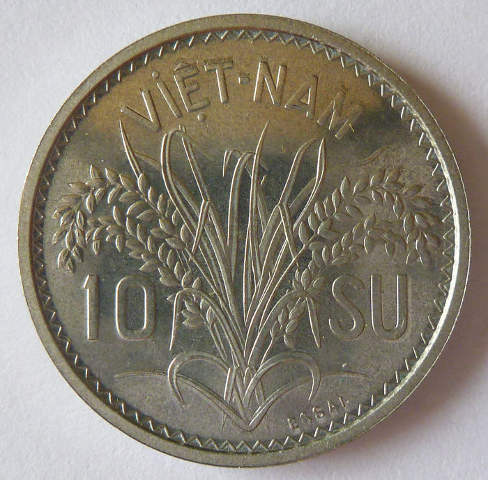 Vietnam (French Colony) - 10 Su (10/1000 of a Piastre) 1953 Trial - Aluminium.