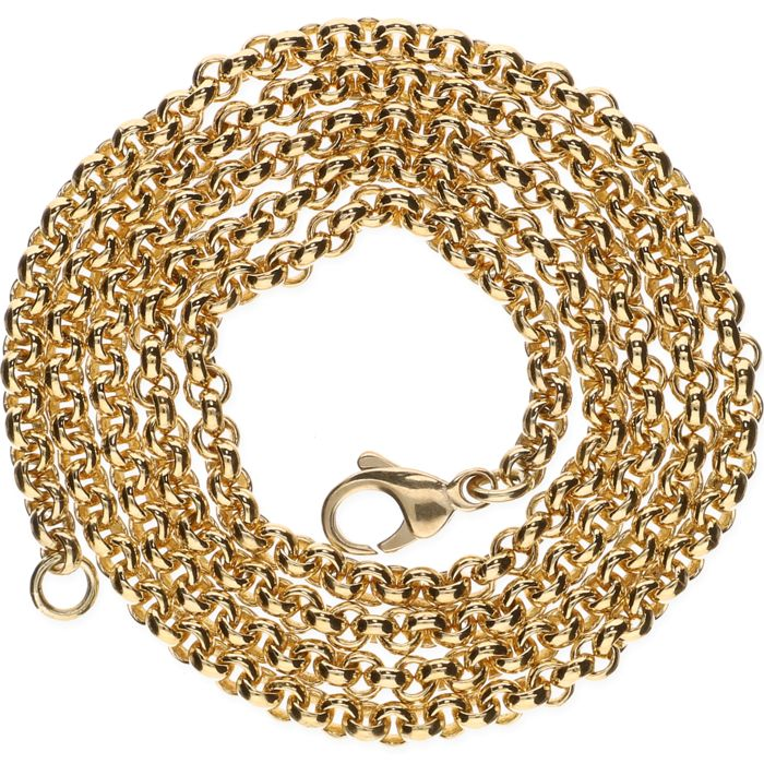 14 kt Yellow gold anchor chain necklace – Length: