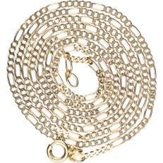 14 kt - Yellow gold Figaro link necklace - Length: 62 cm