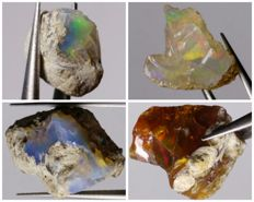 Natural Multicolor Opals - 44.8 ct.(4)