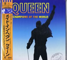 "QUEEN - Champions Of The World - 2X12""-Laser-Discs - made in Japan 1996 (Parlophone TOLW-3224-25 / 4988006927452) 3 sides active."