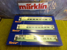 Roco H0 - 45760/45762 - 3  plan-D carriages of the NS, in turquoise