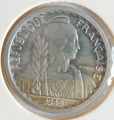 French Indochine - 10 cents 1945 Trial - Aluminium.