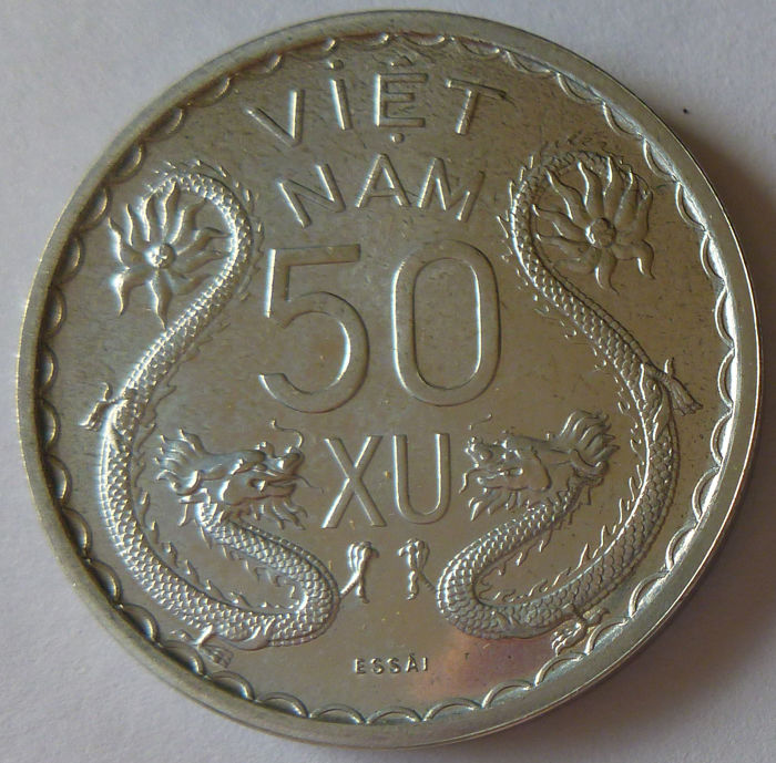 Vietnam (French Colony) - 50 Xu (50/1000 of a Piastre) 1953 Trial - Aluminium.