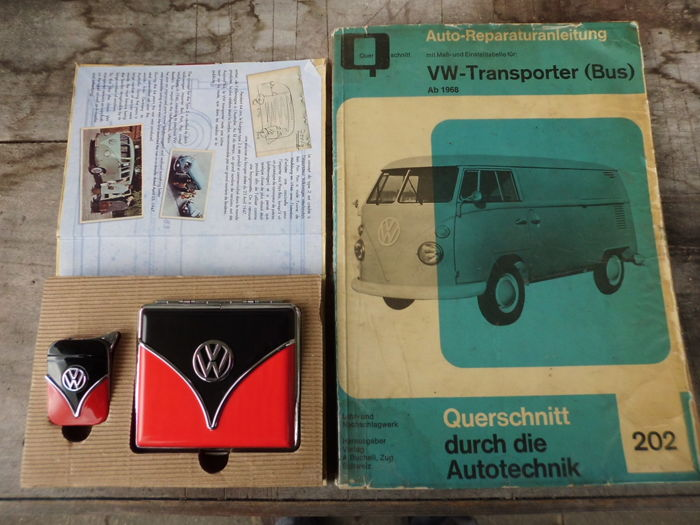 VW Bulli Set - and  Bulli T1  original operating manual, from 1968 onwards.