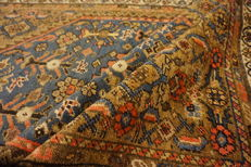Old Persian carpet, Malayer Hamadan, 110 x 170 cm, natural colours, made in Iran